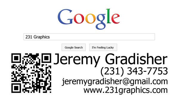 231 Graphics and Web Design Business Card
